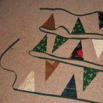 Christmas bunting - completed
