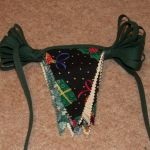 Bunting, folded for storage
