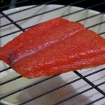 Salmon fillet after curing