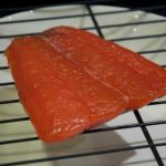 Salmon fillet after smoking
