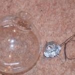 Glass bauble with top removed