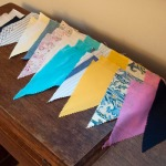Bunting pennants, laid out
