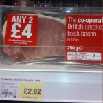 Retail-packed back bacon