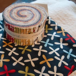 Jelly roll, fabrics & batting