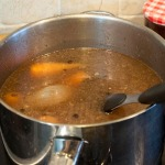 Poaching liquid, after cooking