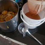 Straining the cordial
