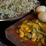 Zested citrus & elderflowers