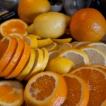 Sliced lemons and oranges