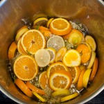 Elderflower cordial, steeping