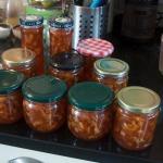 Filled marlalade jars