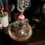 Yeast added and bung & airlock fitted
