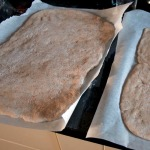 Shaped dough, resting.