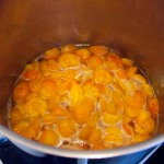 Gently stewed apricots