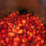 Strawberries & syrup, in the preserving pan
