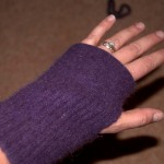 Completed fingerless glove