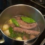 Stock, before simmering