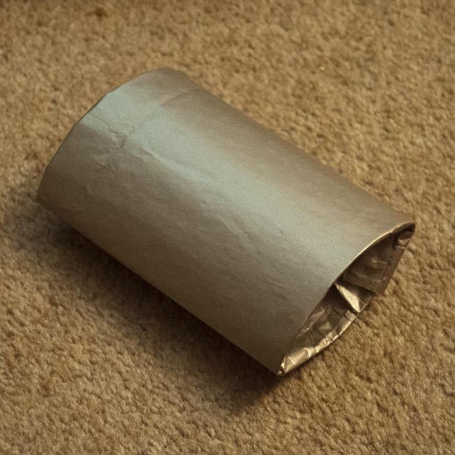 Wrapped and flattened