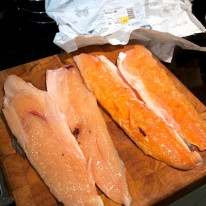 Ruined arctic char fillets