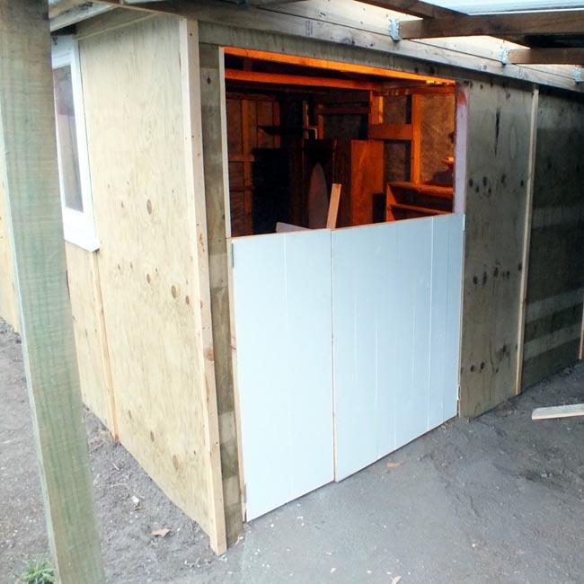 Bottom doorlets installed