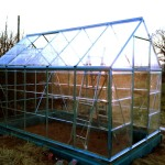 Greenhouse roof installed
