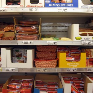 Processed meat selection