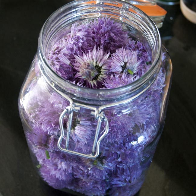 Put the flowers into your jar