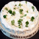 Prepared camembert with garlic and thyme