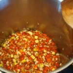 Chutney at start of cooking