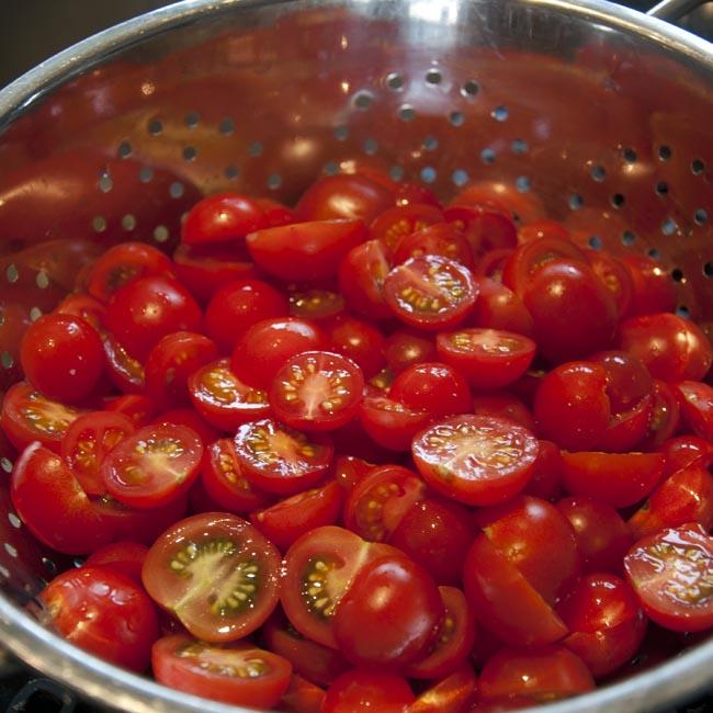 Acidulated tomatoes, drying
