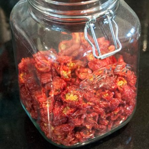 Finished 'sun' dried tomatoes