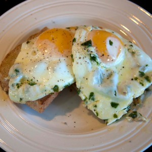 Eggs with Cheese -served