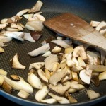 Saute sliced mushrooms