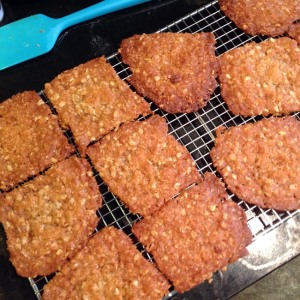 Biscuits on cooling rack