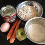 Ingredients - apple carrot dumplings