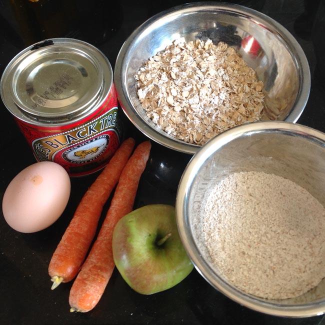 Ingredients - apple carrot dumplings