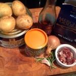 Braised lentils - ingredients