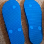 Sandal soles sealed with sugru