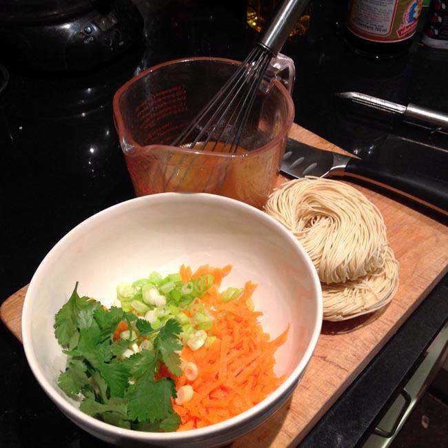 Prepared vegetables & dressing