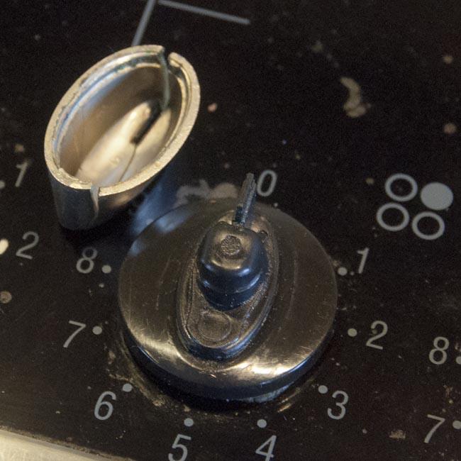 Broken knob
