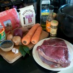 Braised beef ingredients
