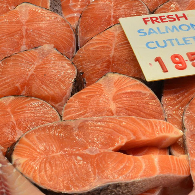 Salmon cutlets