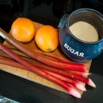 Rhubarb syrup ingredients