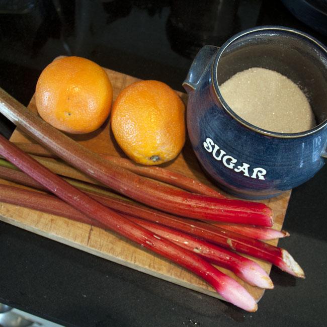 Rhubarb syrup ingredients