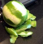 Peel lime zest