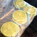 Bag lime for the freezer