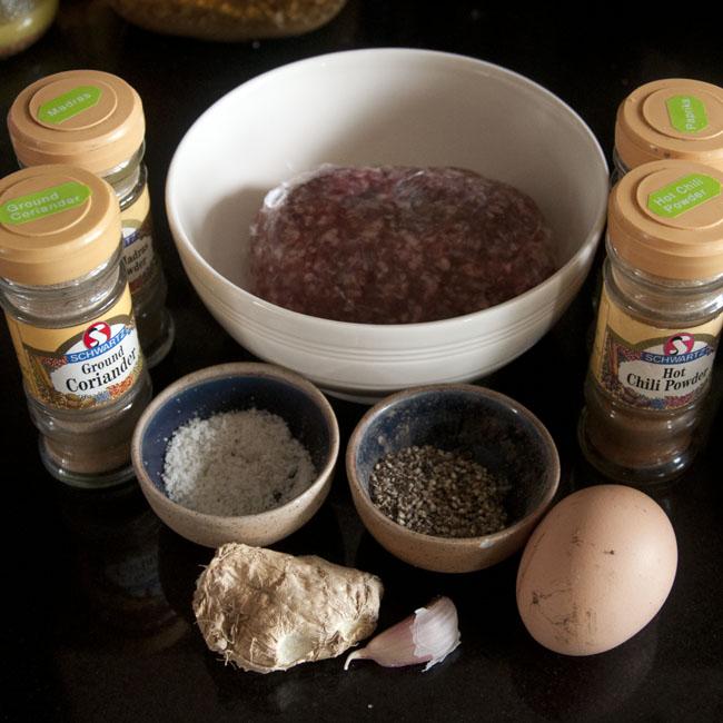 Kebab ingredients