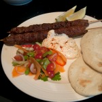 Indian kebabs, served