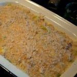 Macaroni ready for the oven