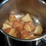 Buttered boiled potatoes