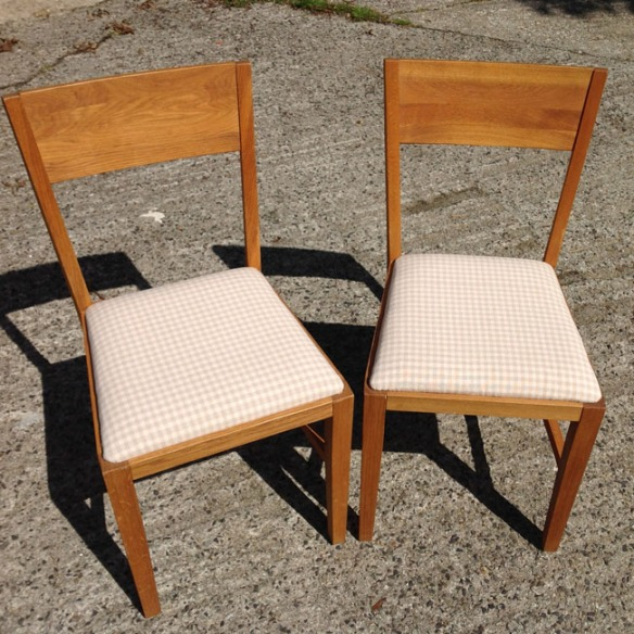 Admire your finished chairs!